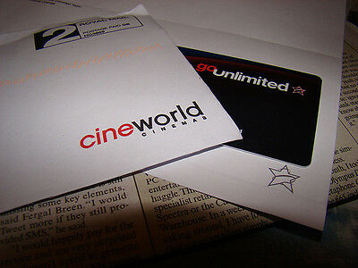 Cineworld e-code Unlimited Card