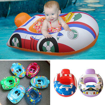 Inflatable Float Swimming Seat Ring Kids Baby Safety Floating Swim Pool Boat Toy
