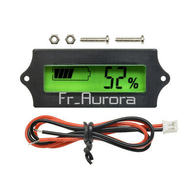 LCD Battery Capacity 12V Tester Indicator For Lead-acid Lithium LiPo