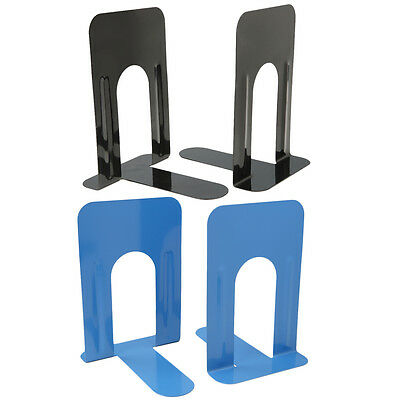 4 pcs Heavy Duty Metal Bookends Books Ends Homes Offices Supplies Stationery UK