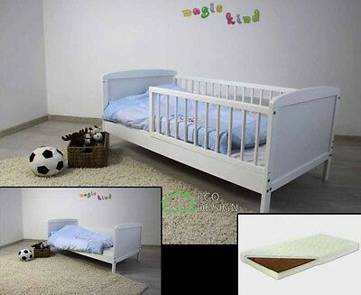 Cot bed toddler JUNIOR BED white pine 140x70 selection of mattresses