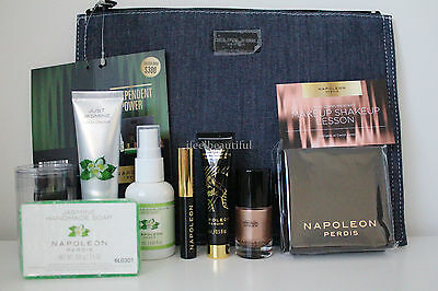 Napoleon Perdis Independent Power 9-piece Giftset w/ Primer/Bronzer/Mascara NEW