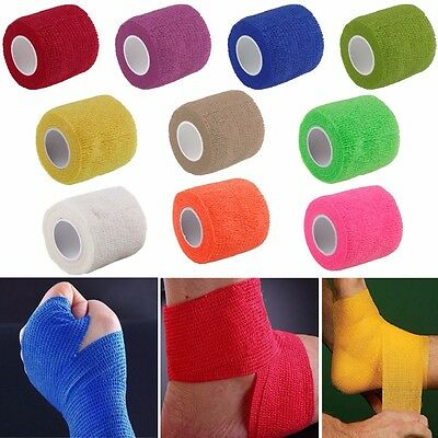 Kinesiology Elastic Tape Roll Sport Muscle Strain Injury Support Gym Bandage HA
