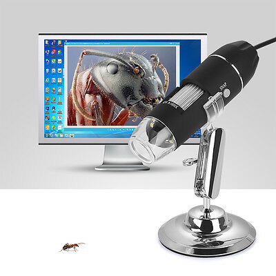 1000X 8LED USB Mikroskop Labor Stereo Microscope Lupe Video Kamera Magnifier