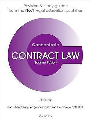 Contract Law Concentrate: Law Revision and Study Guide by Jill Poole (Paperback…