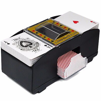 NEW Poker Card Shuffler Automatic Shuffling Machine Casino Robot 2 Decks
