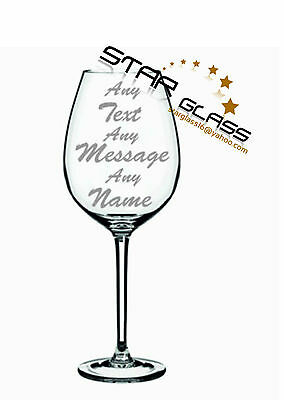 Personalised wine glass engraved gift birthday wedding hen party