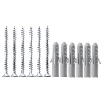 IKEA FIXA 12-piece screw and plug set silver-colour grey Free Shipping