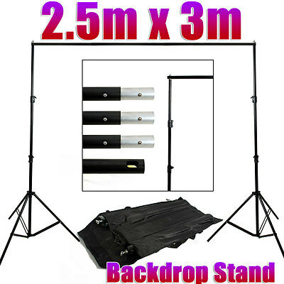 2.5x3m Photography Studio Background Backdrop Support System Set Stand Crossbar