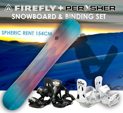 FIREFLY Snowboard 154cm & PERYSHER Bindings Set - SPHERIC RENT SNOWBOARD