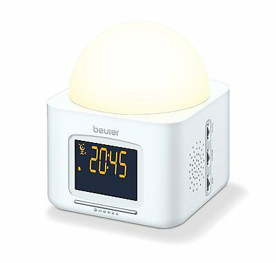 Beurer WL30 Wellness Wake Up Dawn Simulator with Nature Sounds - White