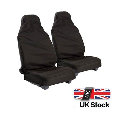 Pairs Universal Car Seat Covers Waterproof Front Black Protectors Bucket Cover