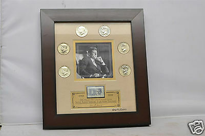 50th Anniversary Kennedy Half Dollar Framed Collector's Set