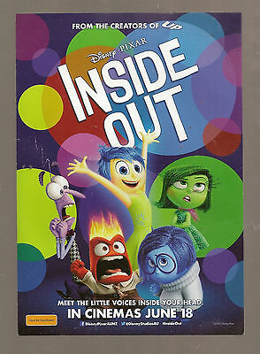 Disney's Inside Out movie flyer  NEW