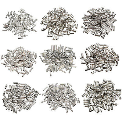 100pcs Uninsulated Bootlace Ferrule Cord Tin End Terminal Crimp 0.5-16mm²