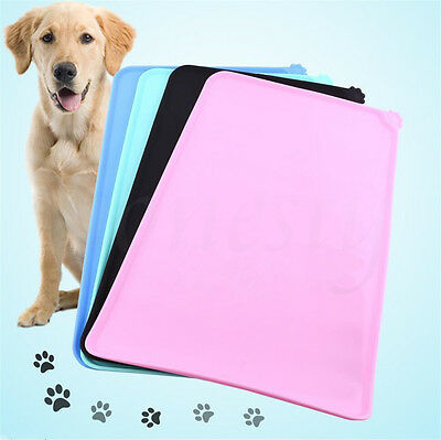 New Non-slip Pet Cat Dog Dish Bowl Feeding Food Lovely Placemat Mat Wipe Clean