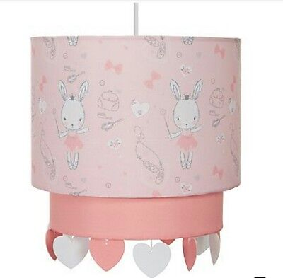 GIRLS/baby Pink Princess Bunny Shade with Ballerina Bunny 2 Tier New Nursery ☆☆