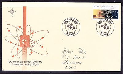 South Africa 1977 Uranium  First Day Cover - addressed