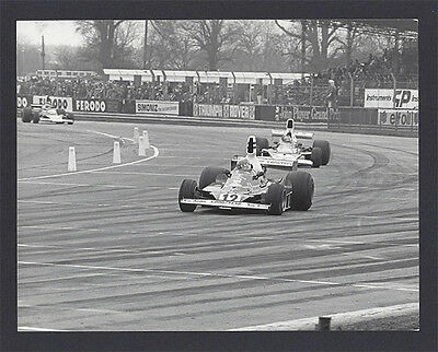 1 B&W photo Ferrari 312 T '75 Silverstone International Trophy Niki Lauda winner