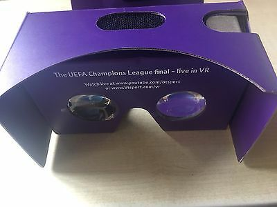 BNIB New BT Sport Google Cardboard 3D Virtual Reality Viewer For Smartphone