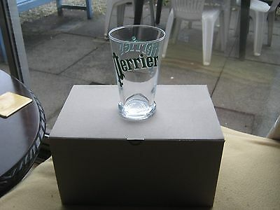 PERRIER glass set 6 BNIB French water eau classic party picnic table bar drink