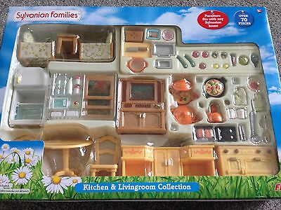 sylvanian families kitchen and living room collection sylvanian families complete kitchen and livingroom set 27292