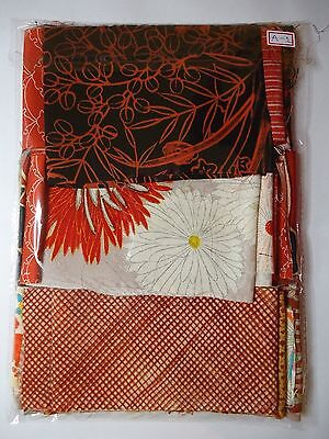 Vintage Japanese Silk Kimono Fabric Lot Offcuts Quilting Patchwork A-1
