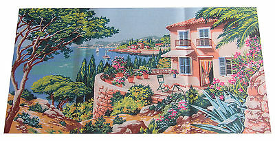 Canevas Neuf A Faire Toile A Broder Vue Mer Canvas Tapestry Needlepoint 932.97
