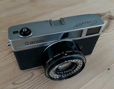 Canon Canonet - 1961 35mm Rangefinder Camera with 45mm f/1.9 Lens - Working