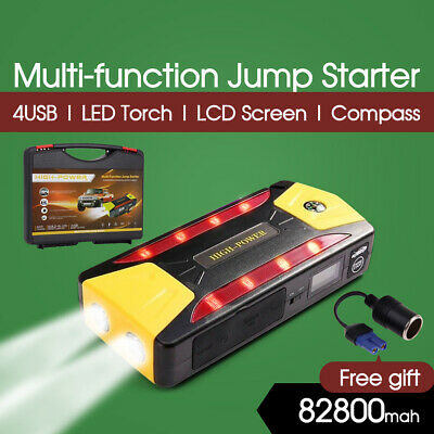 82800mAh PORTABLE JUMP STARTER BOOSTER BATTERY CHARGER POWER BANK VEHICLE CAR AU