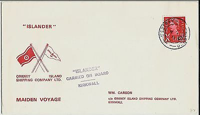 'Islander' ferry maiden voyage cover with 1965 Westray, Orkney, postmark