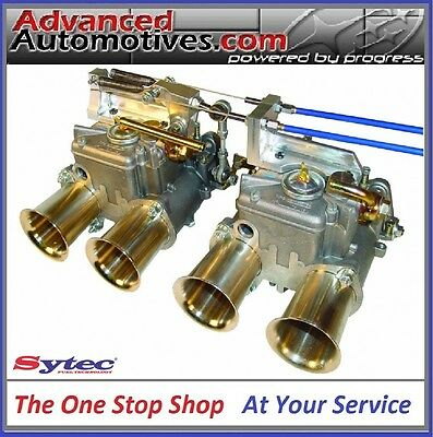 Sytec Heritage Weber 40 45 48 DCOE Twin Cable Linkage Kit Twin Carb Classic Look