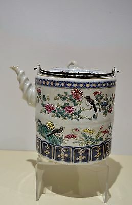 Antique Chinese Enamel Porcelain Teapot Marked to Base