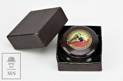 Antique His Master's Voice Gramophone/ Phonographe Wood Disc Cleaner - Boxed