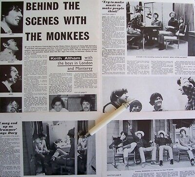 THE MONKEES 1968 CLIPPINGS LOT The Birds The Bees Head