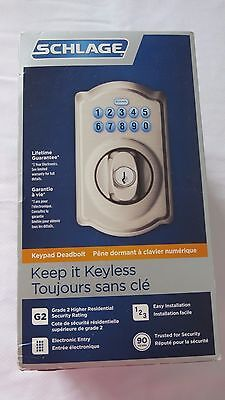 """Schlage     Camelot Electronic Deadbolt      Model Be365       """"new"""""""