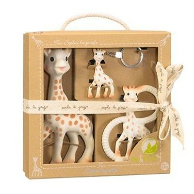 Sophie the Giraffe Trio Gift Set Toy, Teething Ring & Key Chain Auth Aust seller