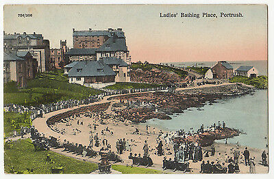 Portrush, Ladies Bathing Place ~ A Vintage Postcard Posted In 1930 (Z62)