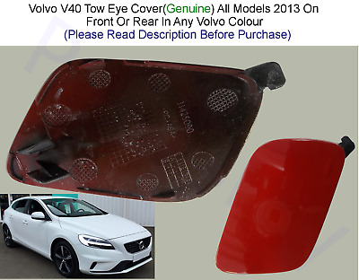 Volvo V40 Genuine New Bumper Tow Eye  Cover, Painted Any Volvo Colour