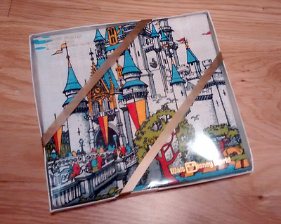 Walt Disney World Pure Linen Tea Towel - 1980's Unopened In Box