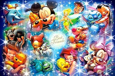 Disney Best Friends B/W Cross Stitch Chart