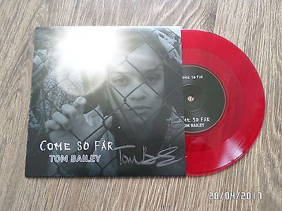 """Tom Bailey (thompson twins) Come So Far Signed 7"""" Red Vinyl, Ltd To 1000 Copies"""
