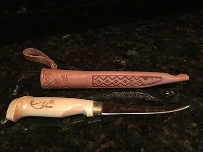 "Rapala J. Marttiini 8"" Filet Knife with Leather Sheath Made in Finland"