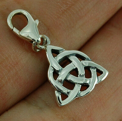 Celtic Charm Silver Dangle Suit European Bracelets, Plain Solid Silver, epd147