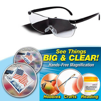Pro Magnifying Presbyopic Glasses Eyewear Reading 160% Magnification Gift For