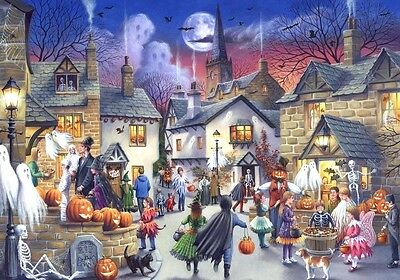 Halloween B/W Cross Stitch Chart