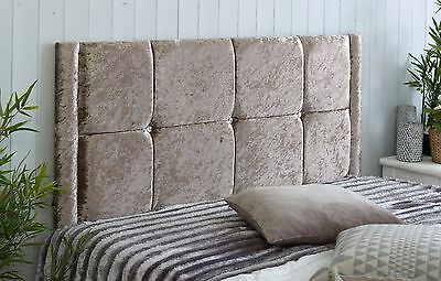 New Valencia Crushed Velvet Headboard Choose Your Size + Colour + Free P & P!!!