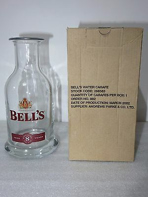 NEW 20cm Bell's Whiskey Glass Water Whiskey Decanter Carafe Bottle Jug