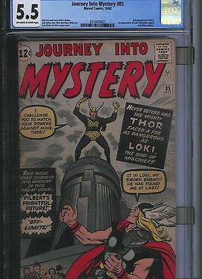 Journey into Mystery # 85 CGC 5.5  Off White to White Pages. UnRestored.
