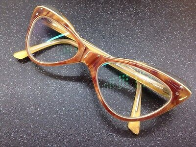 Cat Eye 50's 60's Vintage Frame Anti Reflective Clear Glasses